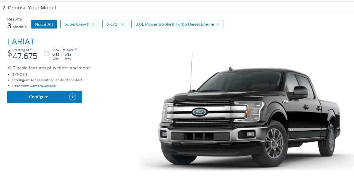 Price of a diesel Ford truck