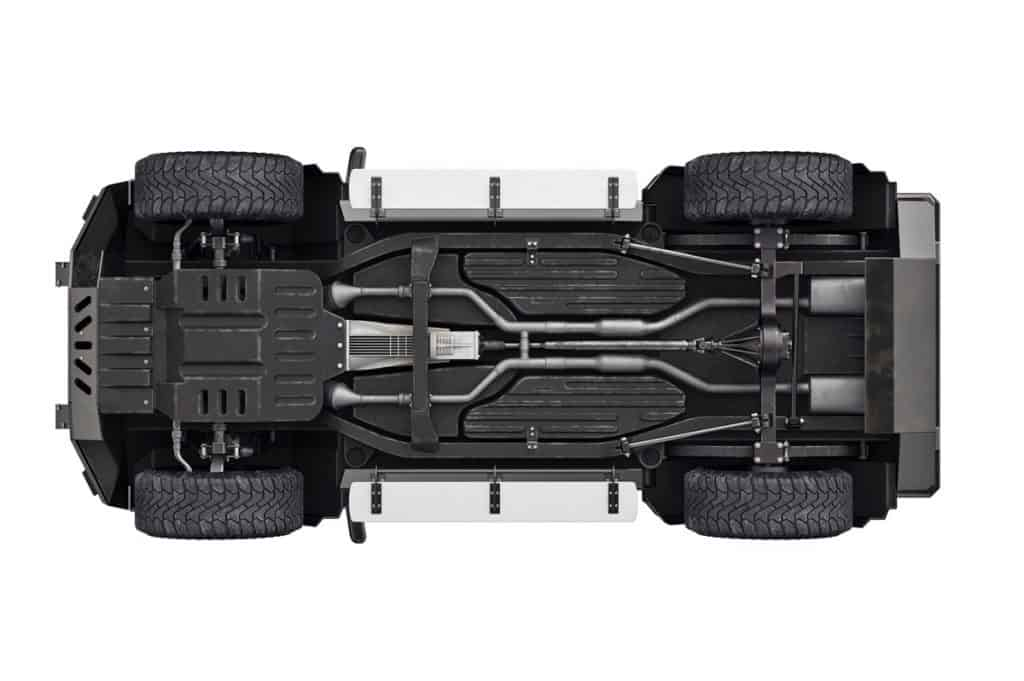 Undercarriage chassis image of a 4WD and 2WD vehicle, 4WD Vs 2WD Trucks - Which Should You Choose?