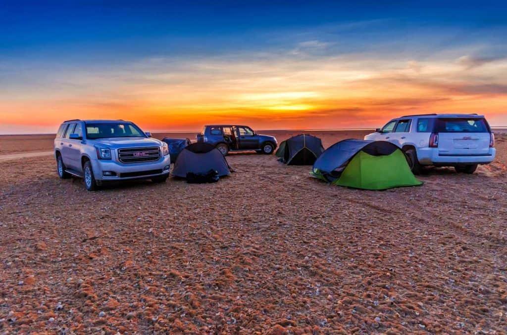 Camping with GMC Yukon