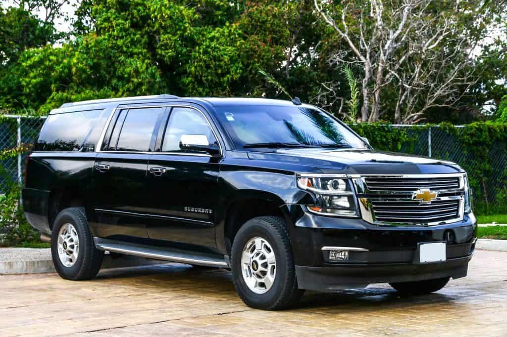 Stunning black Chevrolet Suburban parking