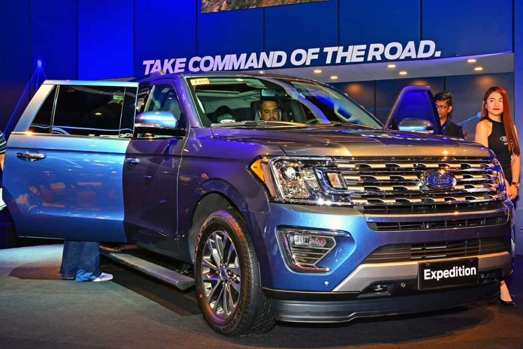 Ford Expedition in an auto show