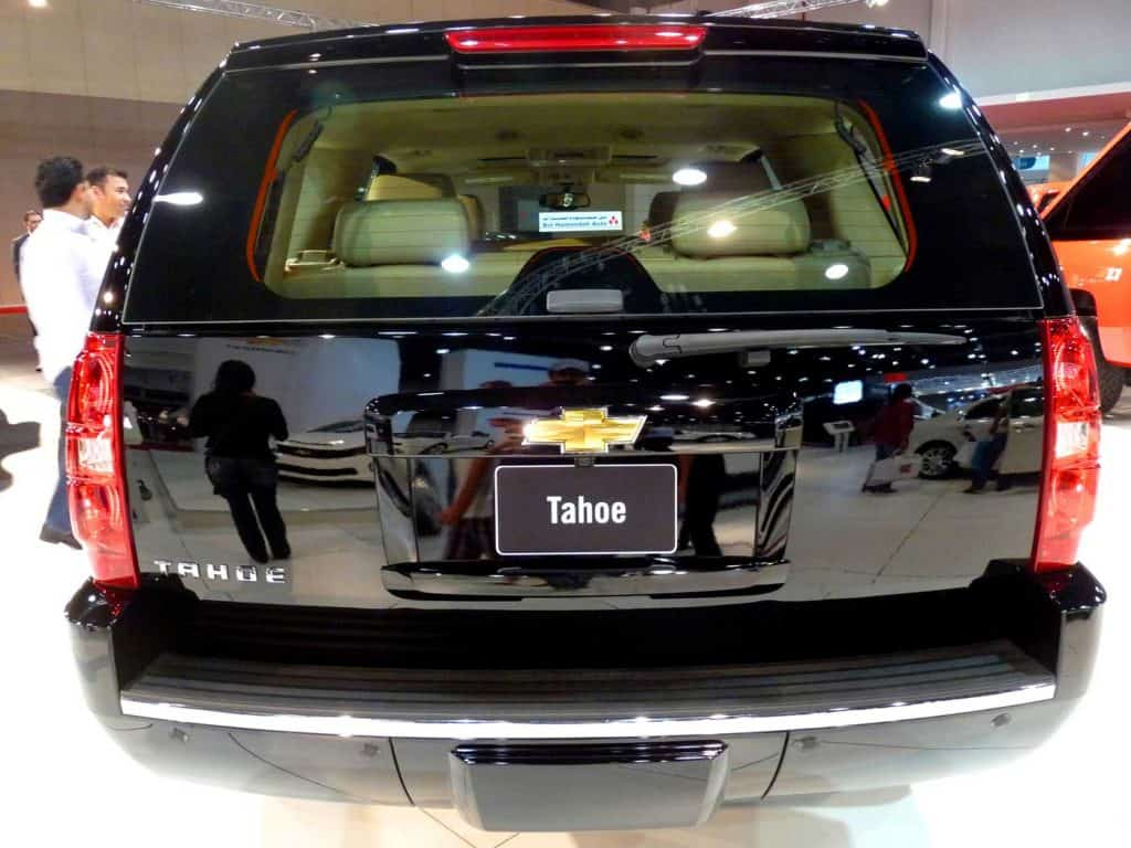 Stunning black Chevrolet Tahoe shot at the back