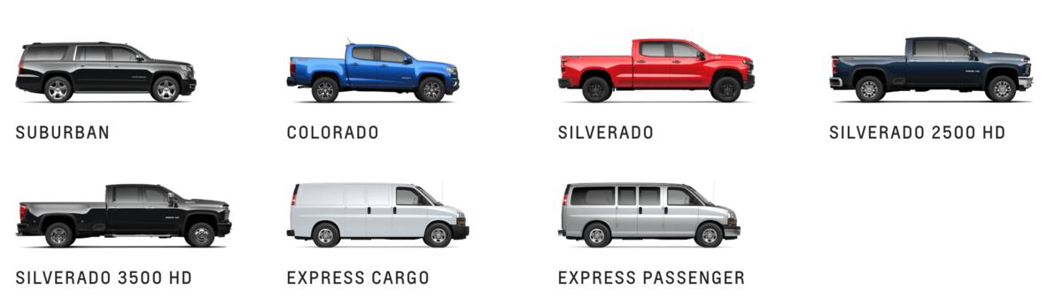 Chevy Silverado models