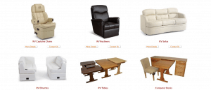 Bradd and Hall website product page for furniture