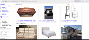 Craigslist website product page for furniture