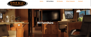 Dave & LJ's RV interior Design website product page for furniture