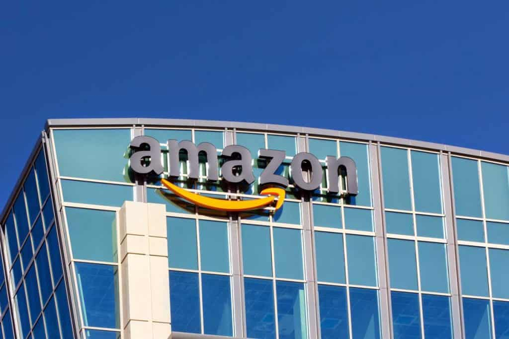 Amazon logo on company building, 33 Best RV Furniture Online Stores That You Need to Know About