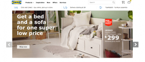 IKEA website product page for furniture