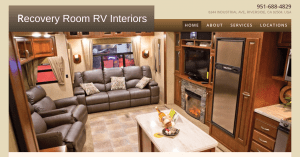 Recovery Room RV Interiors website product page for furniture