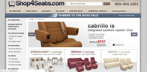 Shop4Seats website product page for furniture