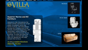 Villa International website product page for furniture