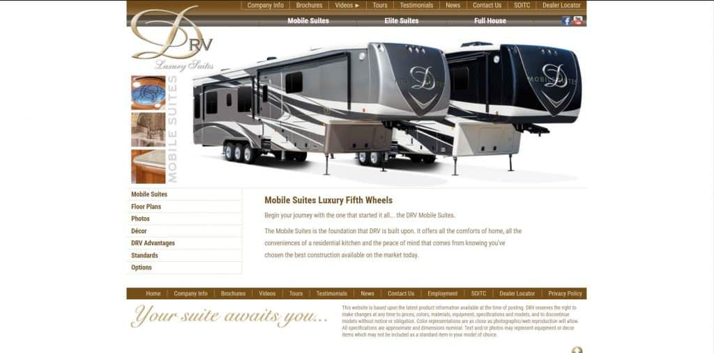 DRVSuites website homepage