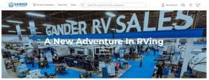 Gander Outdoor's website product page for RV Parts