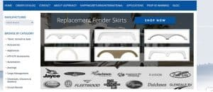 RV Shop's website product page for RV Parts