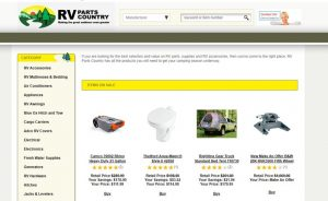 RV Parts Online Country's website product page for RV Parts