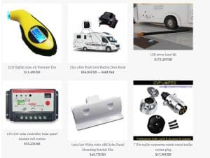 RV Best Online's website product page for RV Parts