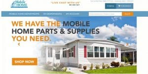 Mobile Home Parts Store's website product page for RV Parts