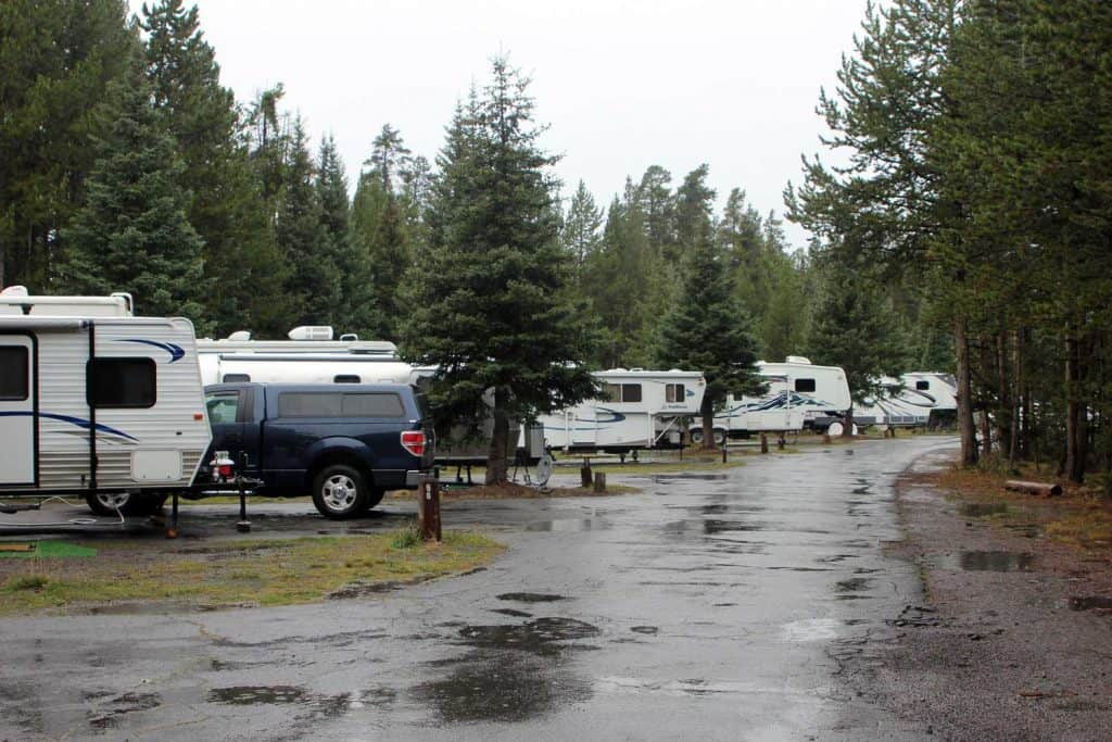 RVs at Fishing Bridge RV Park | NPS