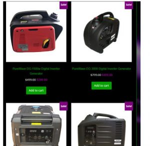 Pure Wave Generators website product page for generators