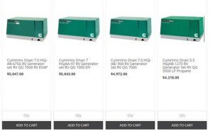 Colorado Standby website product page for generators