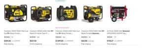 Walmart website product page for generators