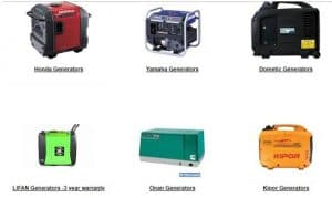RV Parts Country website product page for generators