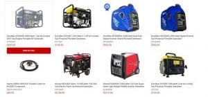 Electric Generator Depot website product page for generators