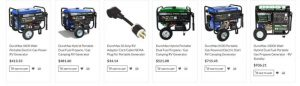 Toolots website product page for generators