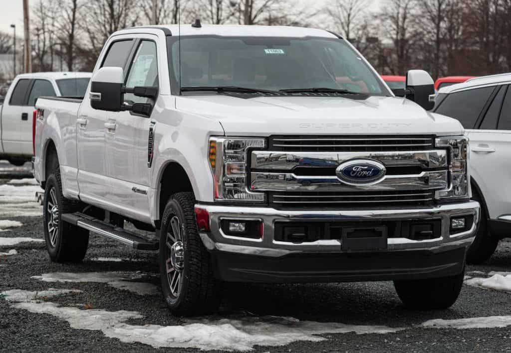 2020 Ford F-250 pickup truck at a dealership in Halifax's North End