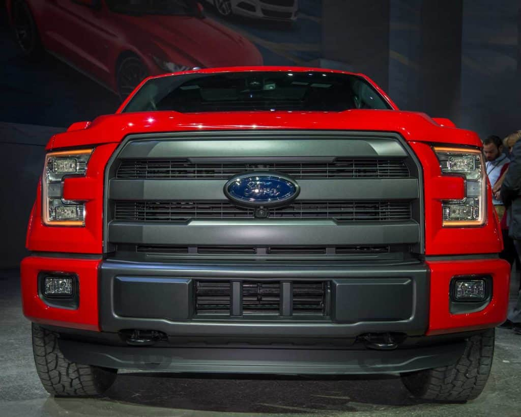 Ford F150 FX4 full front angle