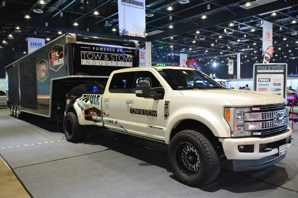 Ford F450 pick up super duty at Bumper to Bumper Prime car show