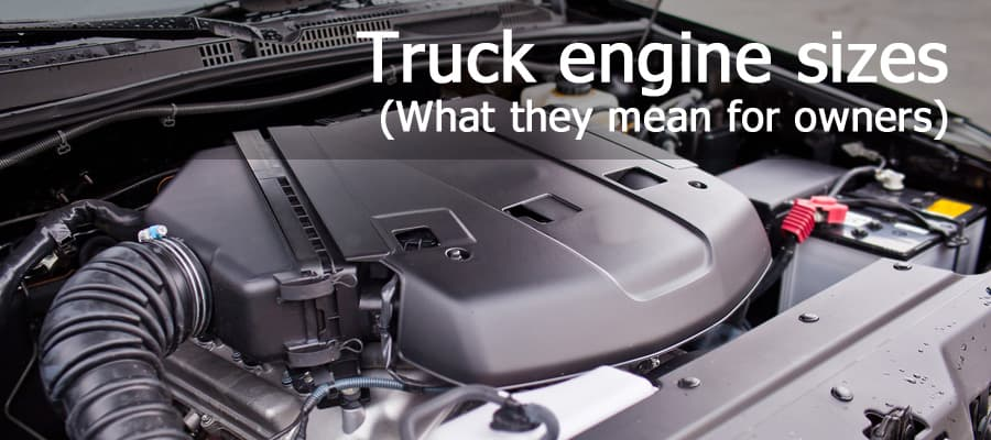 Pickup truck engine size guide