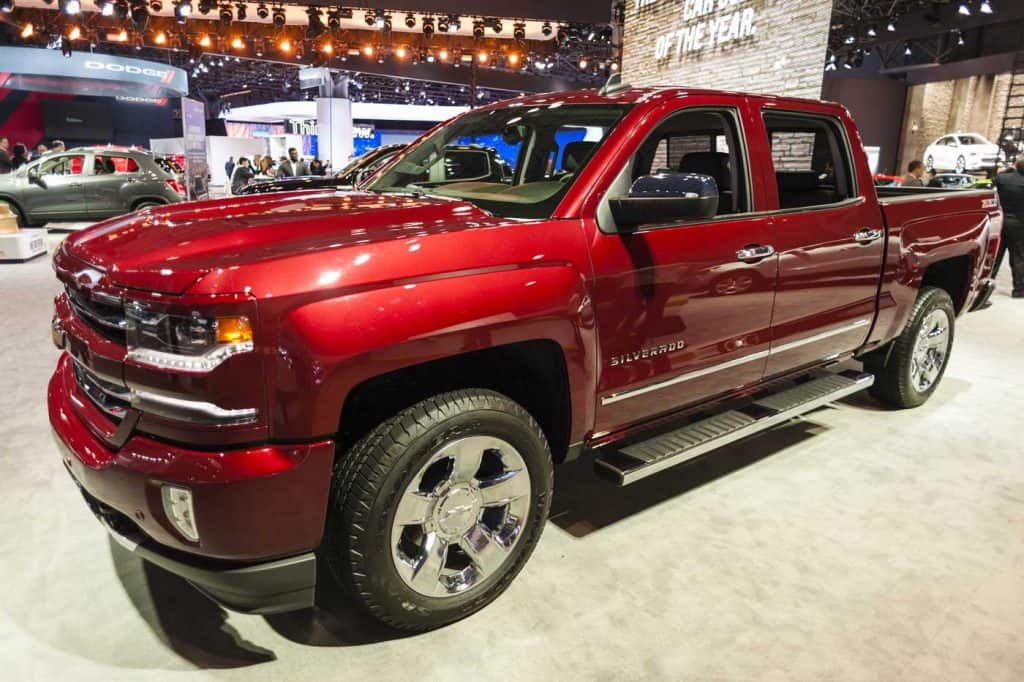 Chevrolet Siverado on display during the New York International Auto Show at the Jacob Javits Center