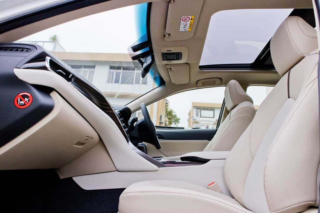 Leather seat of Toyota Camry