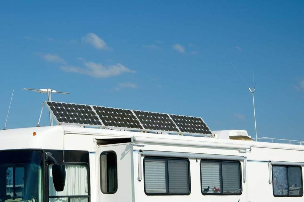 RV with solar panel