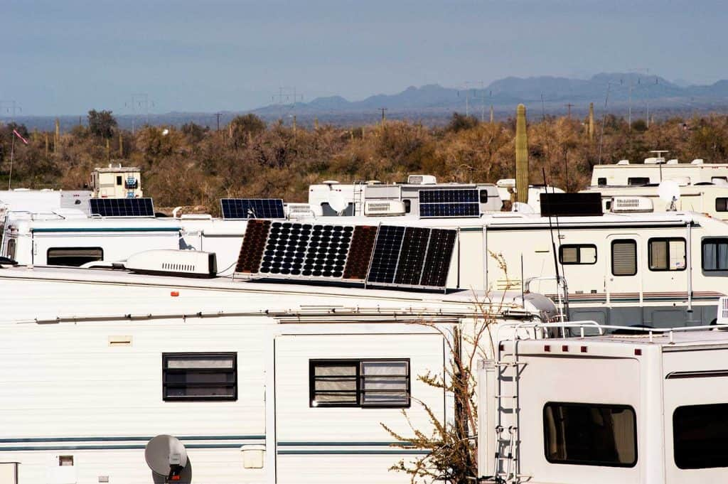 RVs with solar panels