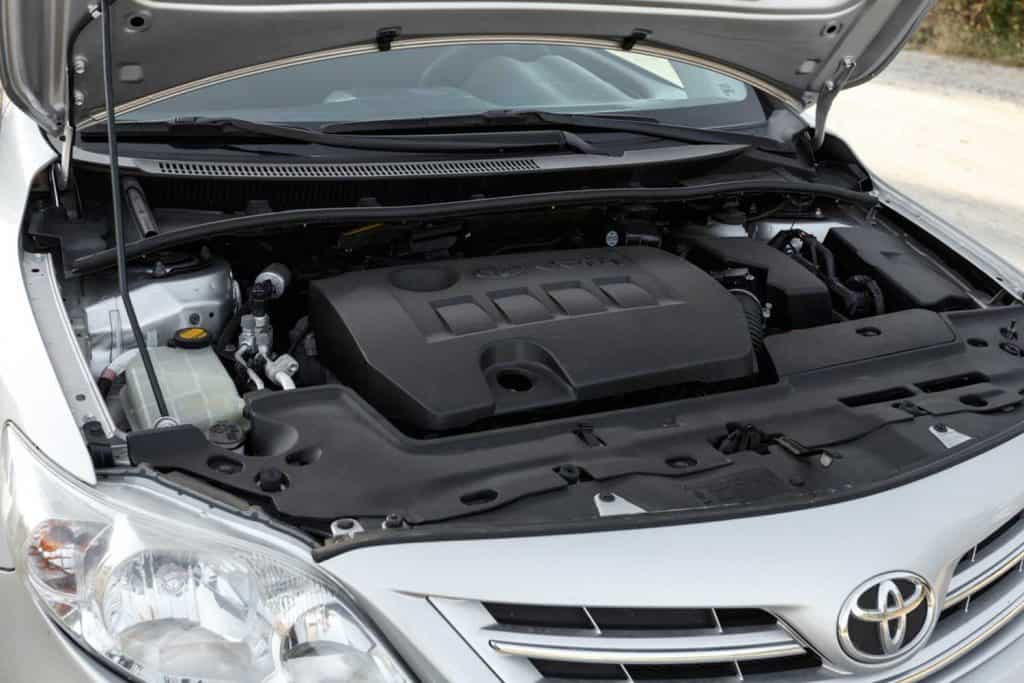 Under the hood of Toyota Corolla
