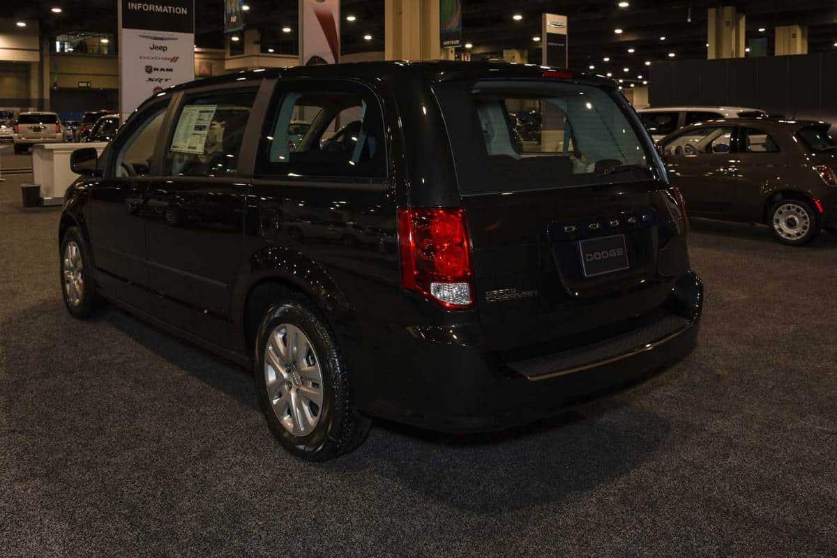 Dodge Grand Caravan on display during the 2015 Miami International Auto Show at the Miami Beach Convention Center in downtown Miami Beach
