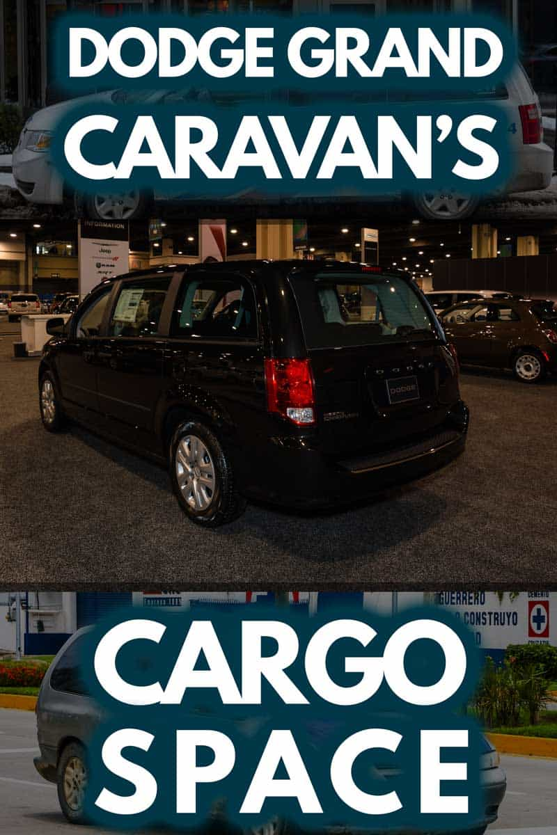 Collage of Dodge Grand Caravan images, Dodge Grand Caravan mini van on display during the 2014 Charlotte International Auto Show at the Charlotte Convention Center
