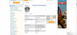 Discount Body Parts website product page for Toyota Sienna parts