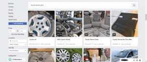 Facebook Marketplace website product page for Toyota Sienna parts