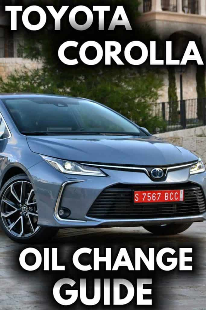 toyota corolla oil change guide