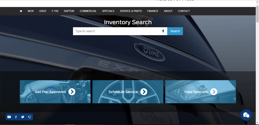 Grieco Ford of Ford Lauderdale website home page