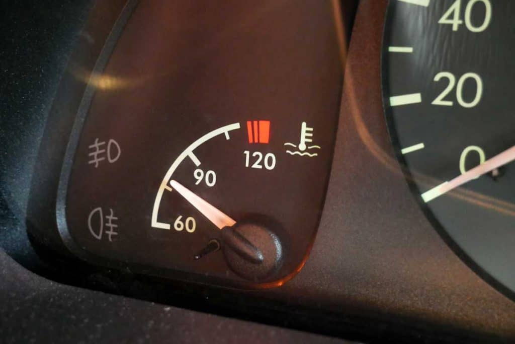 Engine coolant indicator getting low