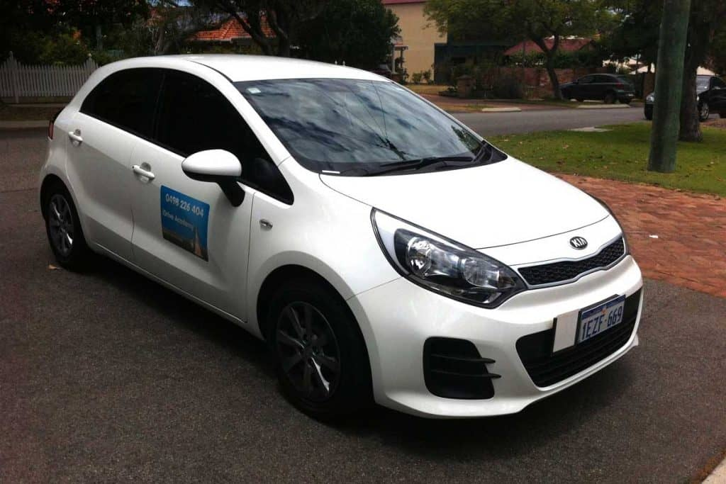 Kia Rio intended for driving lessons