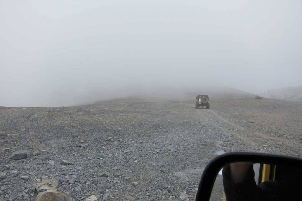 Zero visibility due to heavy fog on Road