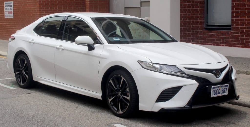 Toyota Camry parked at a street side