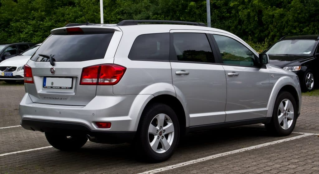 Dodge Journey back angle, Dodge Journey park, Is the Dodge Journey a Van or SUV?
