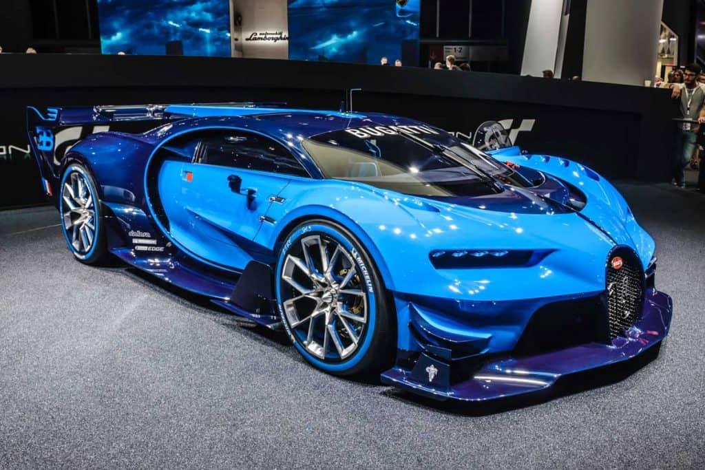 Blue Bugatti Chirron vision gran