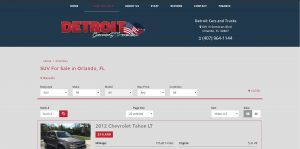 Detroit Cars and Trucks website home page